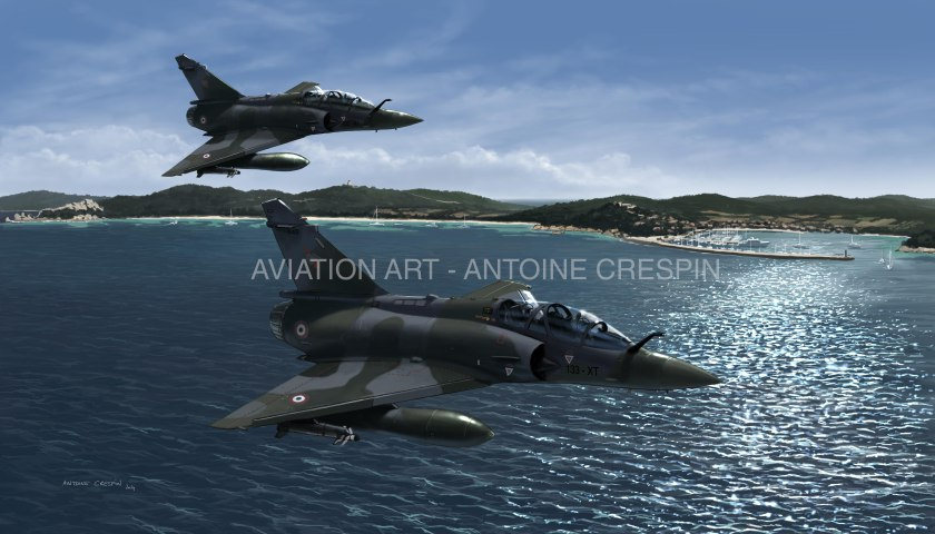 Mirage 2000D Over Porquerolles Island, France