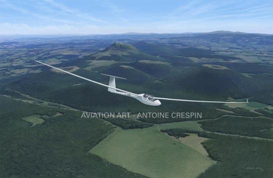 ASH-25 over the puy-de-Dôme, France