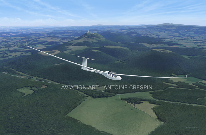 ASH-25 over the puy-de-Dôme, France