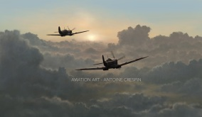 Spitfire MkIX Patrol at Dawn