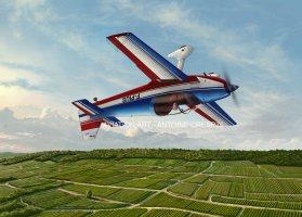 CR-100 from Dijon-Voltige flying over French Vineyards