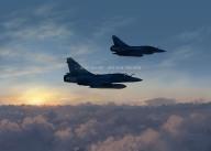 Mirage 2000-5 cloud surfing
