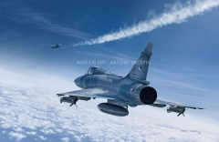 Two Mirage 2000 at high altitude