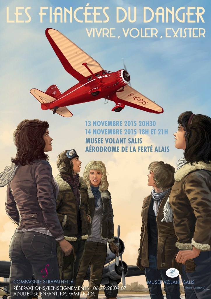 Poster for a Play about women pilot.