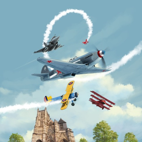 Re-worked version without the French Air Force display team